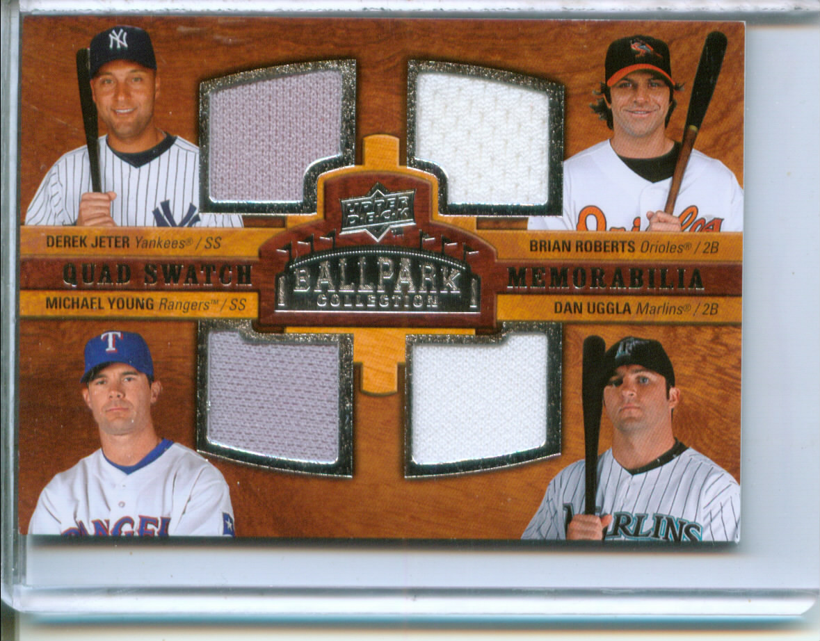 2008 Upper Deck Ballpark Collection #243 Derek Jeter/Brian Roberts/Michael Young/Dan Uggla