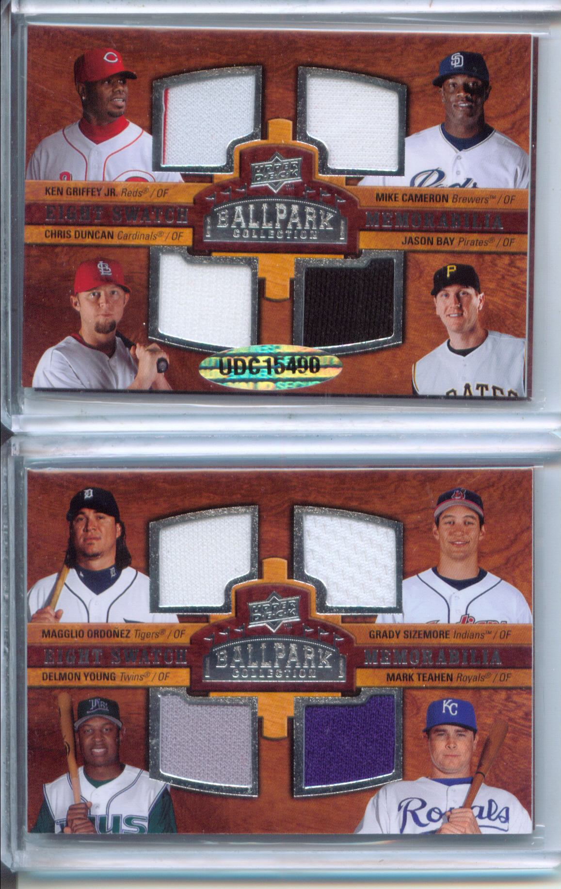 2008 Upper Deck Ballpark Collection #329 Ken Griffey Jr./Mike Cameron/Chris Duncan/Jason Bay/Magglio Ordonez/Grady Sizemore/Delmon Young/Mark Teahen