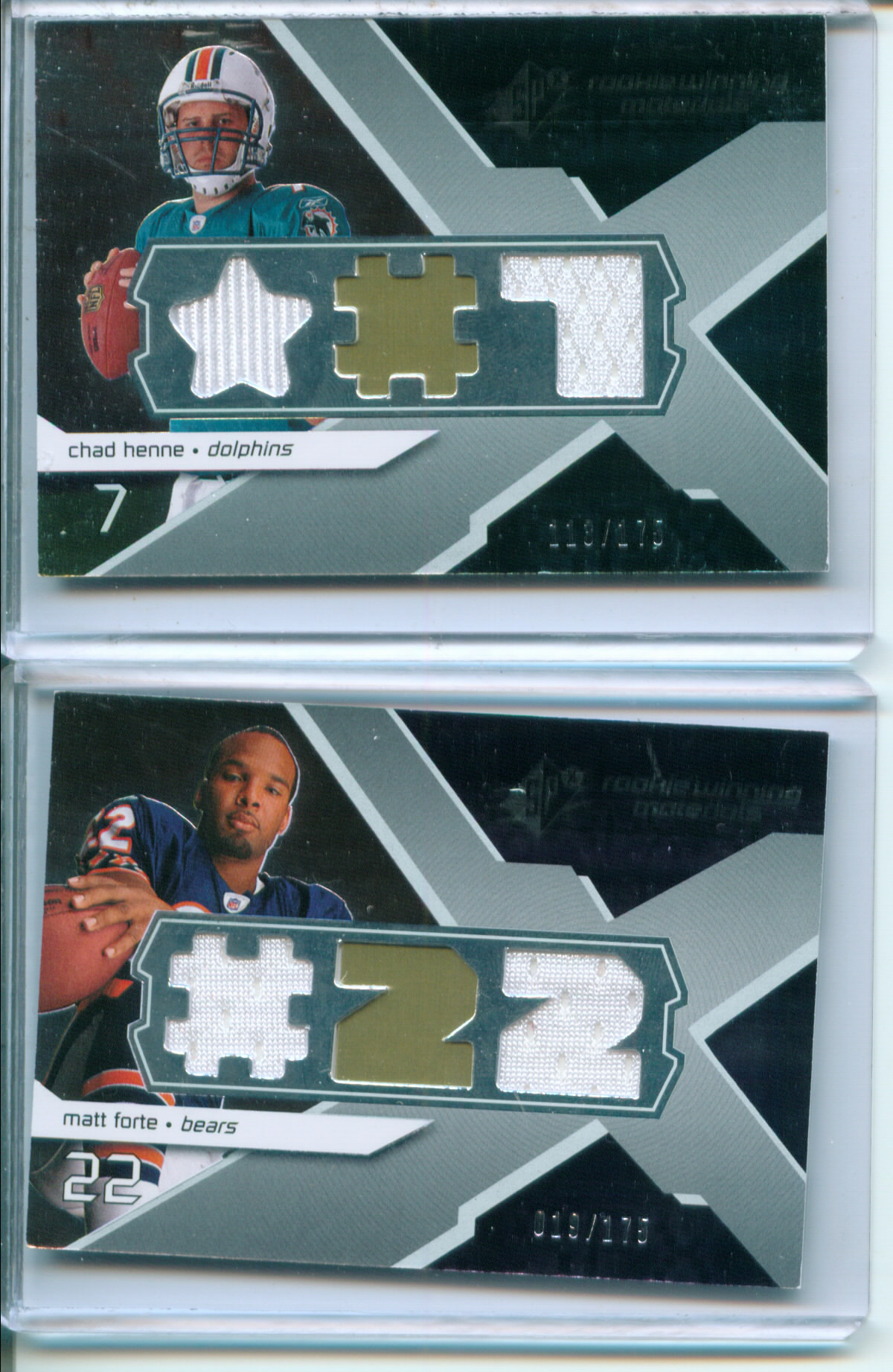 2008 SPx Rookie Materials Jersey Number Dual 175 #RMFO Matt Forte