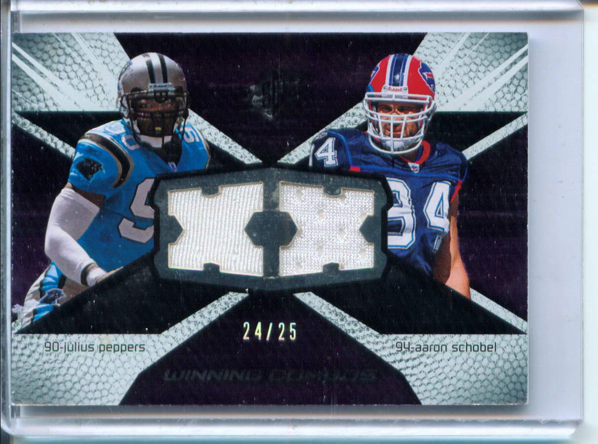 2008 SPx Winning Combos 25 #WC51 Aaron Schobel/Julius Peppers