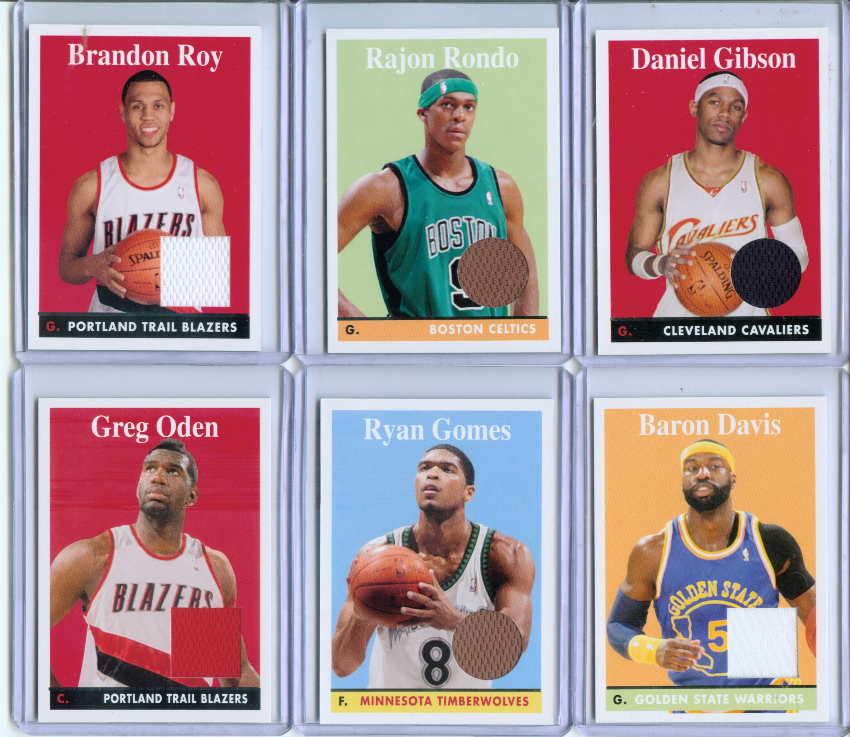 2008-09 Topps 1958-59 Variations Relics #65 Rajon Rondo C