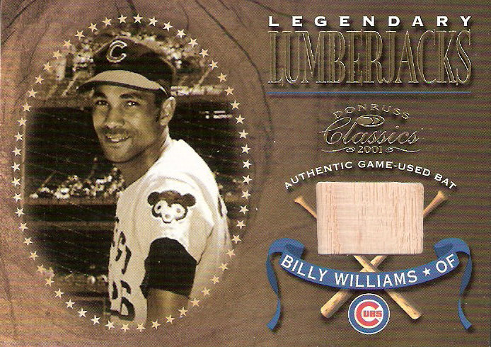 2001 Donruss Classics Legendary Lumberjacks #LL30 Billy Williams