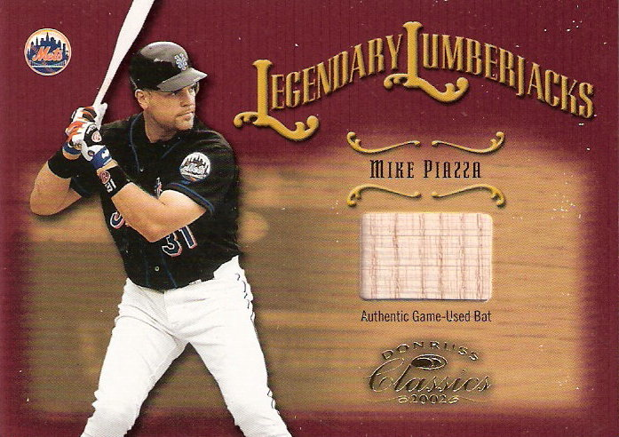 2002 Donruss Classics Legendary Lumberjacks #5 Mike Piazza/500
