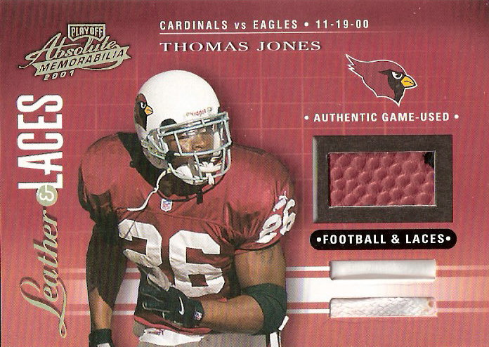 2001 Absolute Memorabilia Leather and Laces Combos #LL2 Thomas Jones