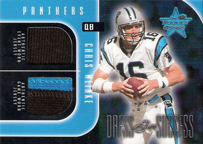 2002 Leaf Rookies and Stars Dress for Success #DS6 Chris Weinke