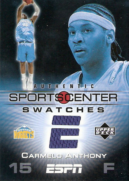 2005-06 Upper Deck ESPN Sports Center Swatches #CA Carmelo Anthony