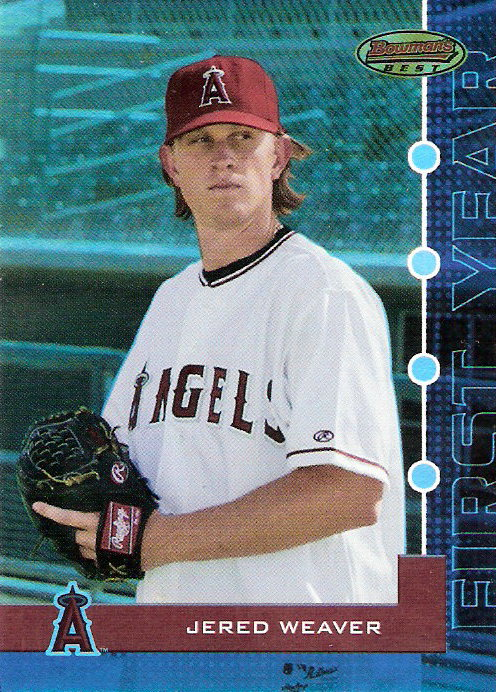 2005 Bowman's Best Blue #36 Jered Weaver FY