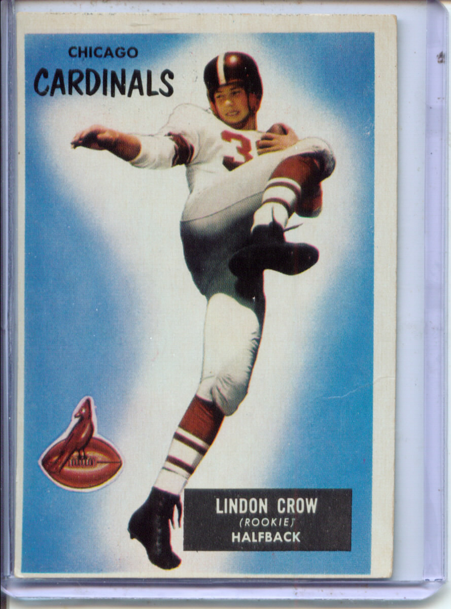 1955 Bowman #5 Lindon Crow RC