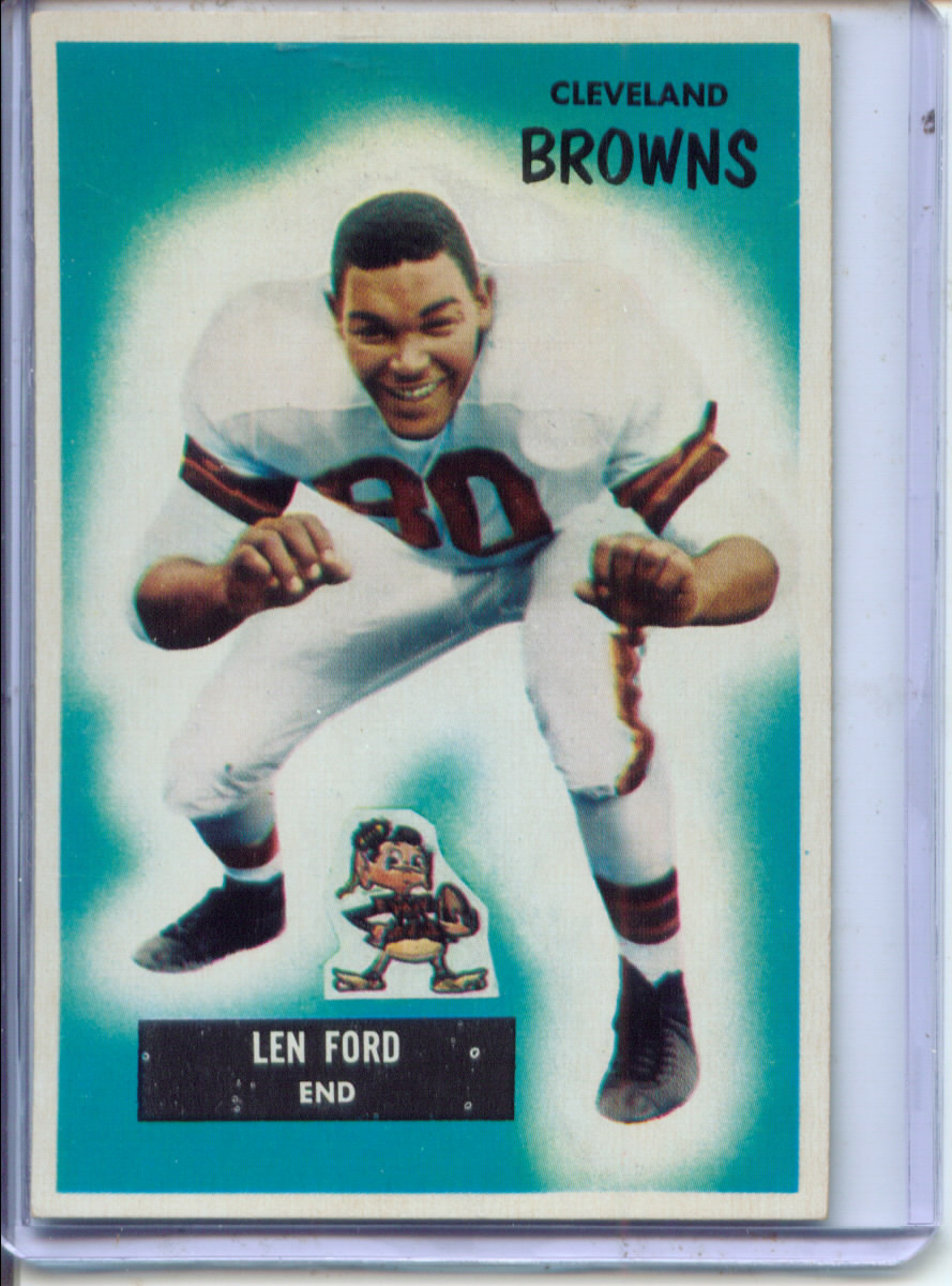 1955 Bowman #14 Len Ford RC