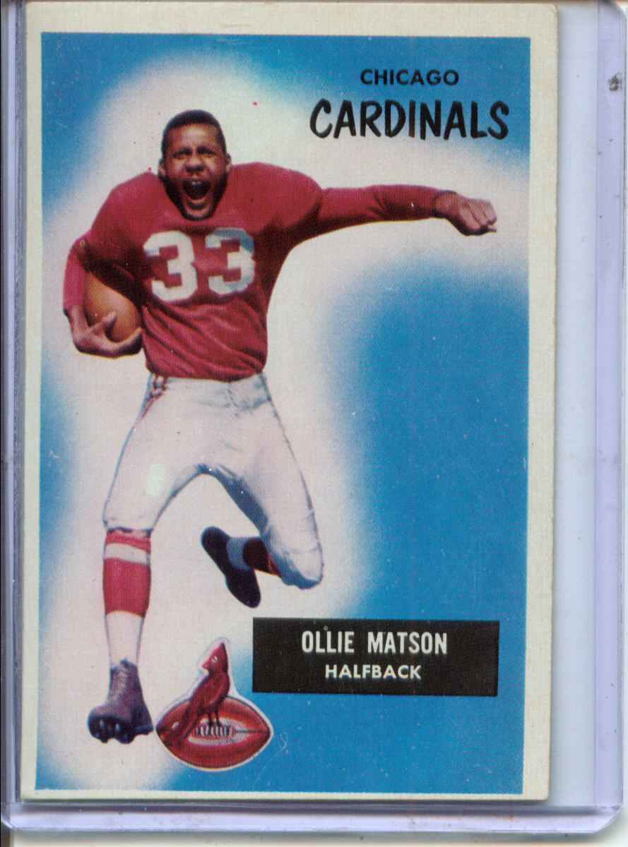 1955 Bowman #25 Ollie Matson