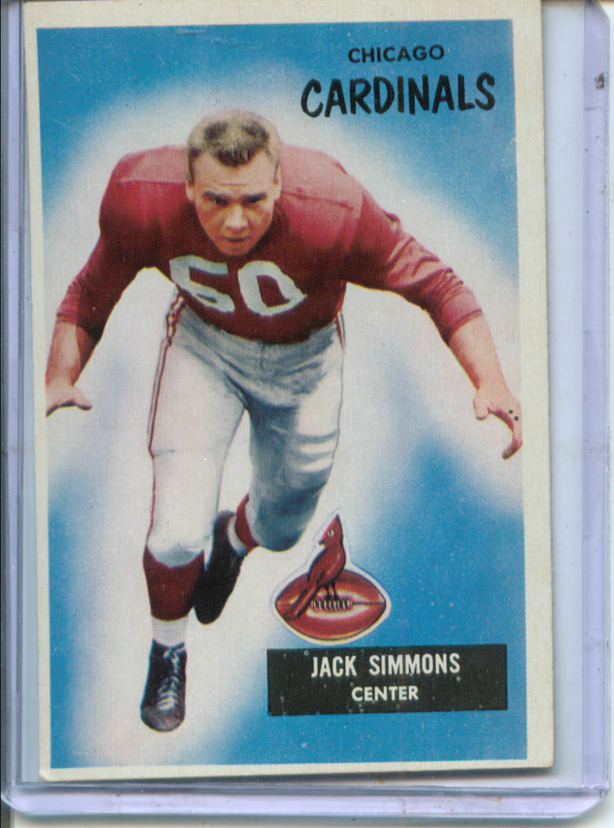 1955 Bowman #27 Jack Simmons