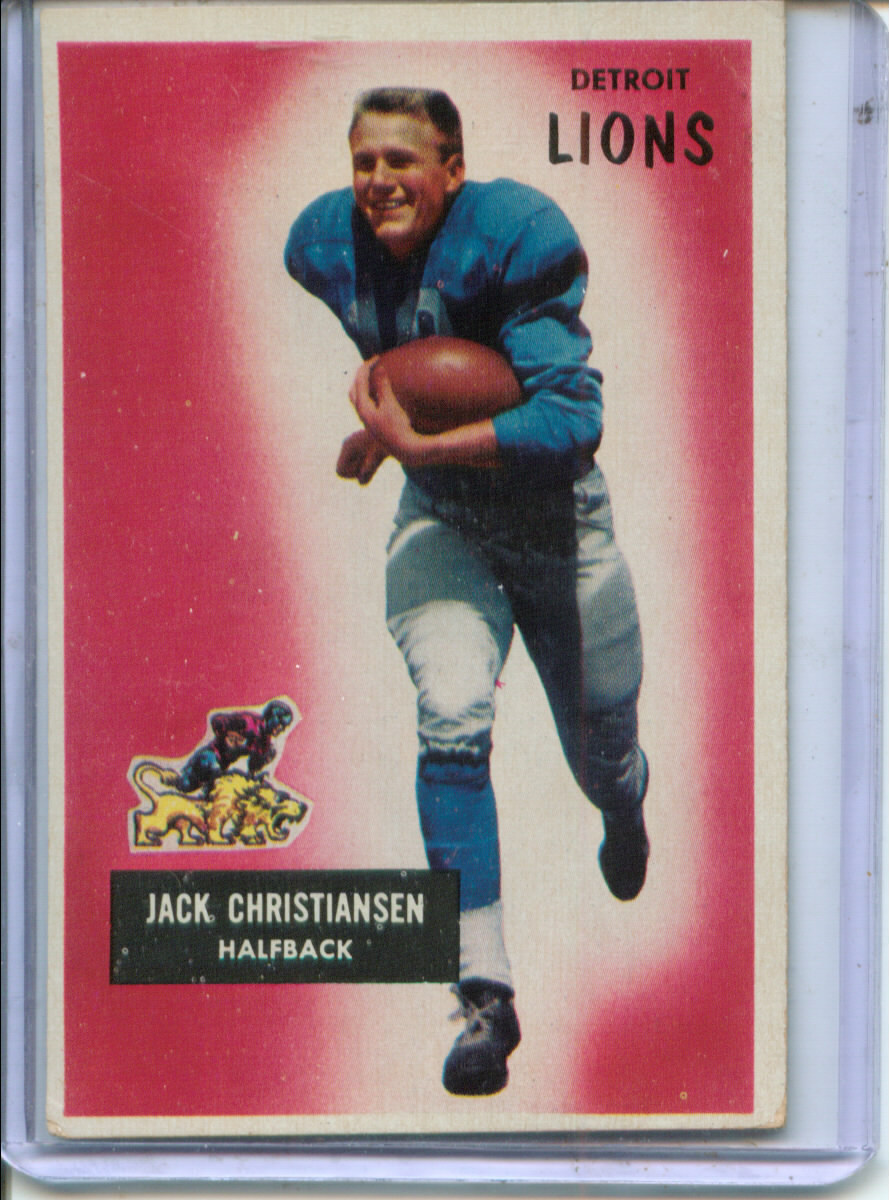 1955 Bowman #28 Jack Christiansen