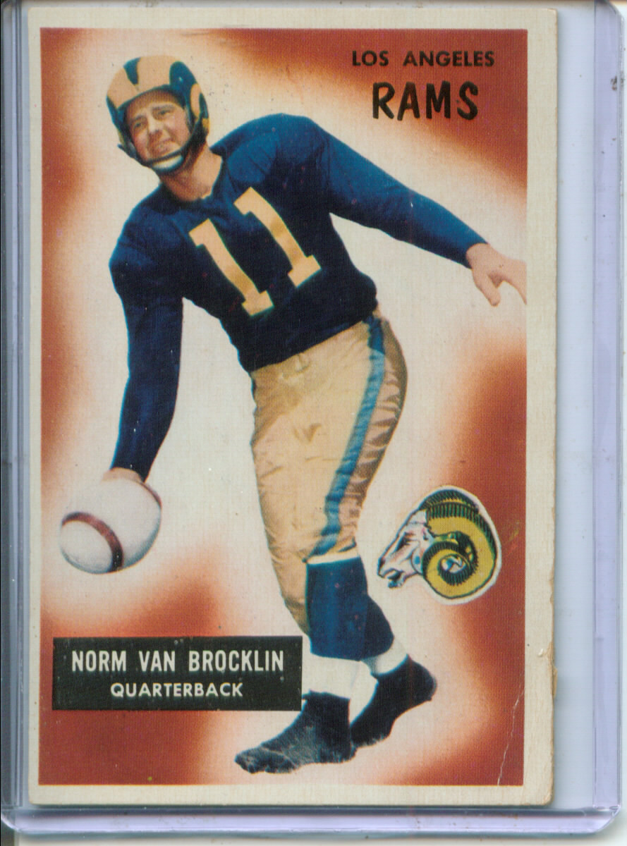 1955 Bowman #32 Norm Van Brocklin