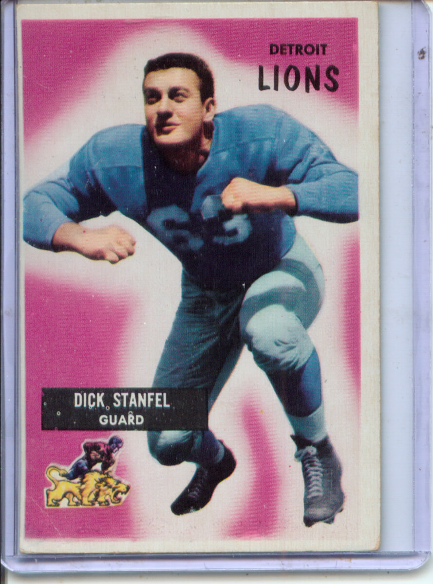 1955 Bowman #36 Dick Stanfel RC