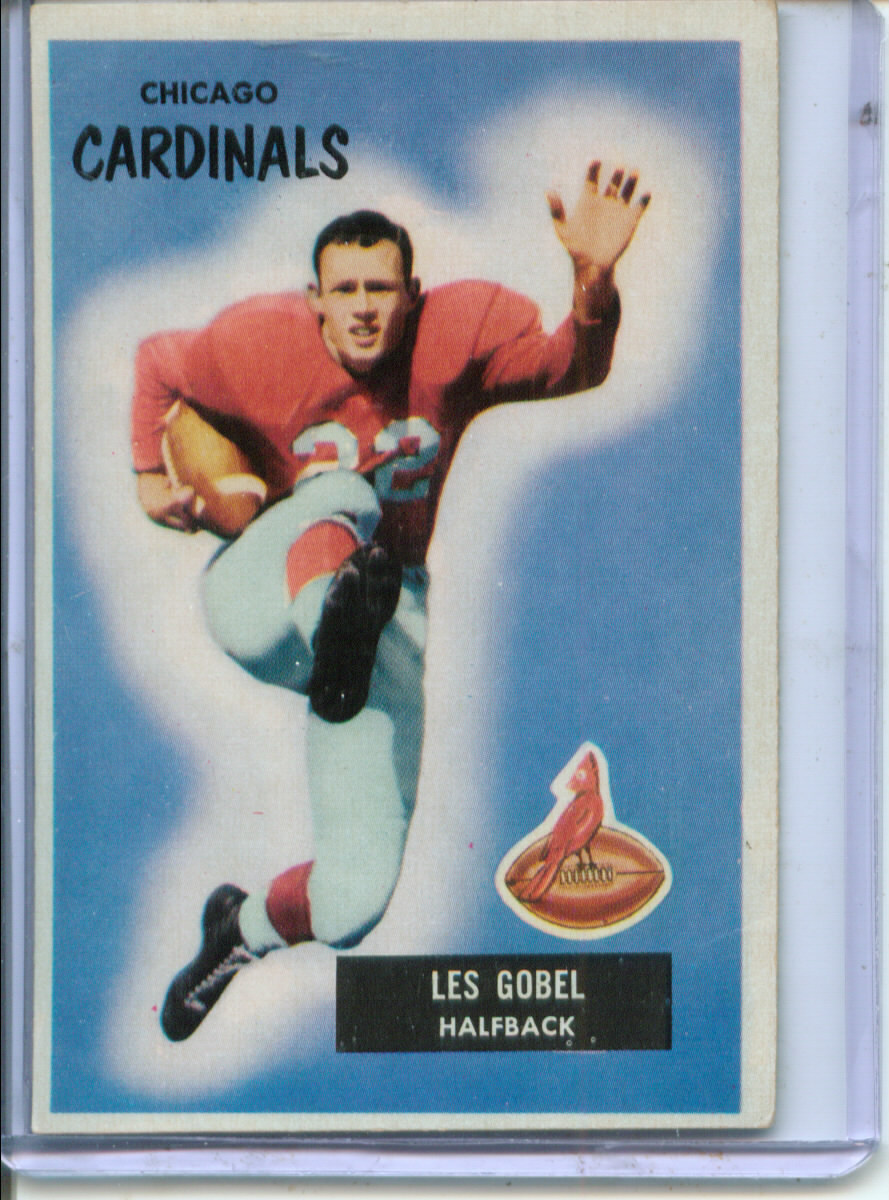 1955 Bowman #50 Les Gobel RC