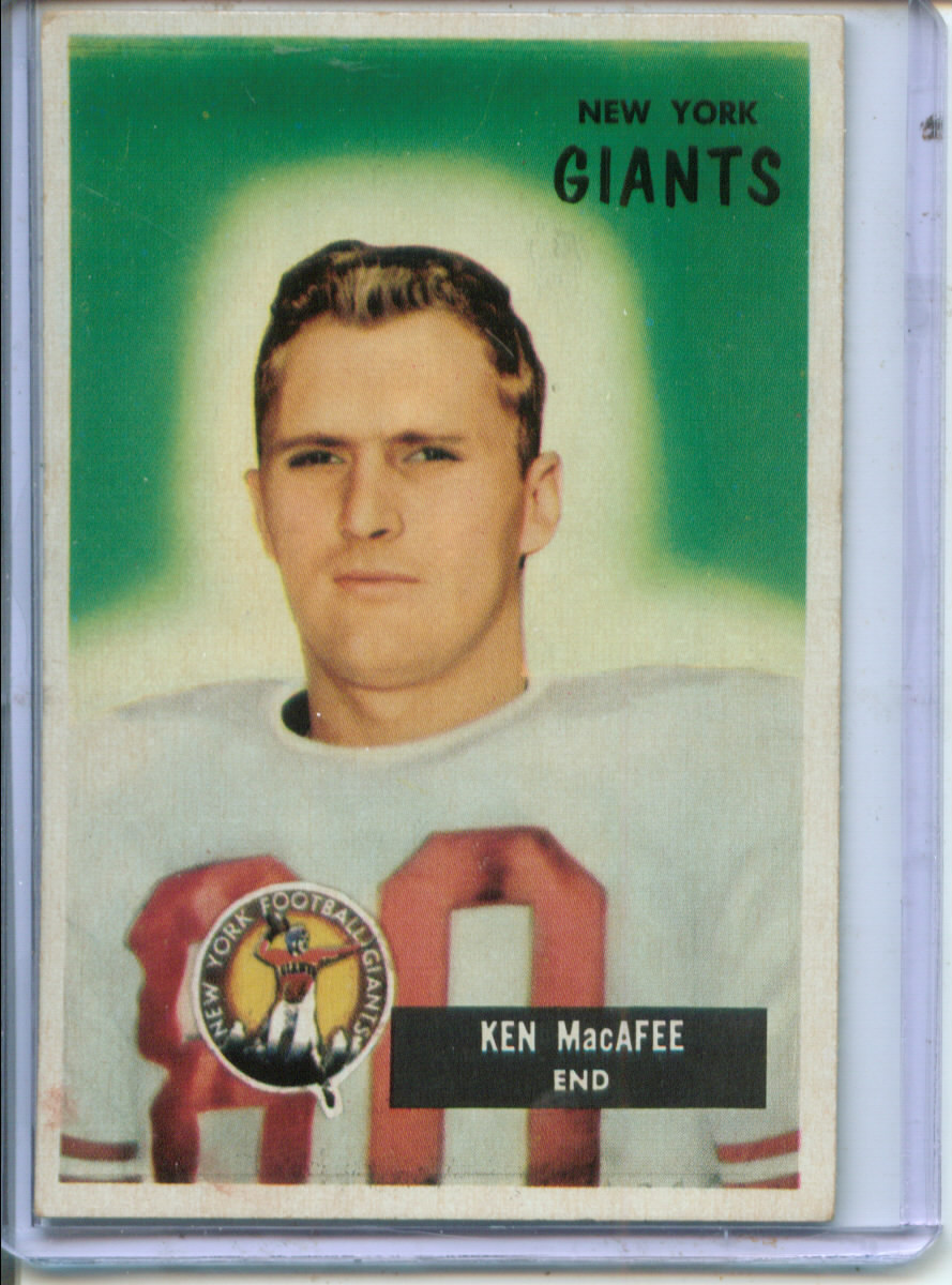 1955 Bowman #60 Ken MacAfee E RC