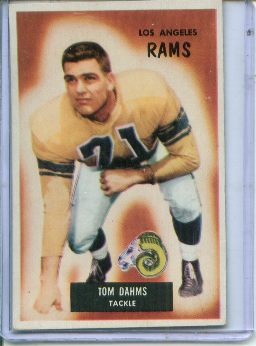 1955 Bowman #69 Tom Dahms RC
