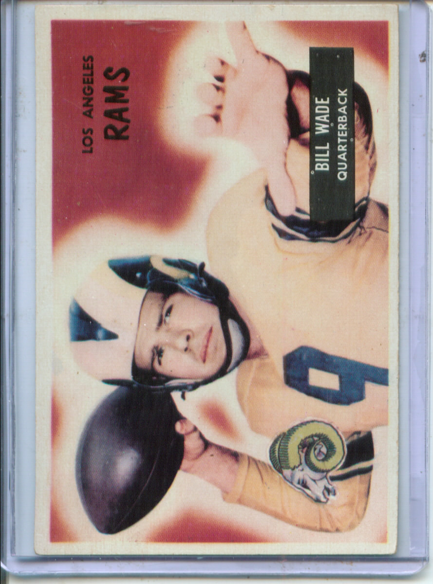 1955 Bowman #78 Bill Wade