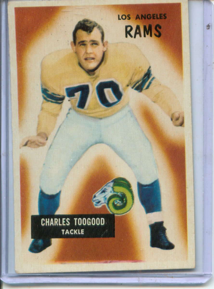 1955 Bowman #89 Charley Toogood RC