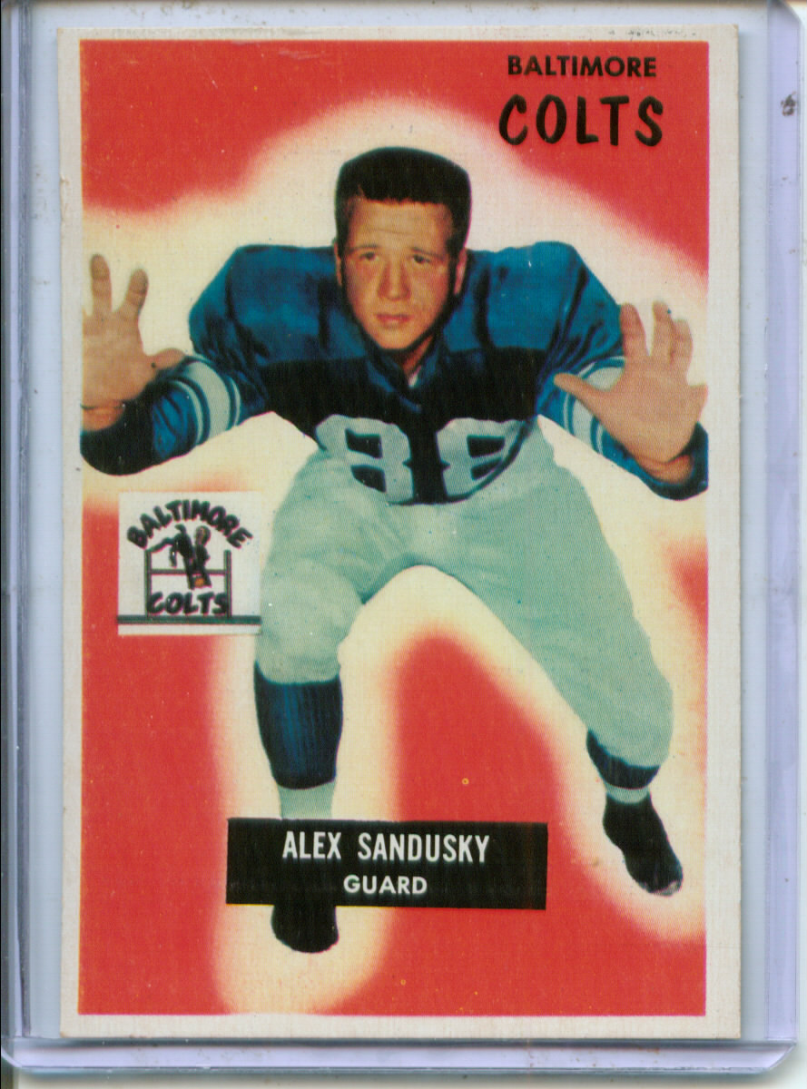 1955 Bowman #100 Alex Sandusky RC