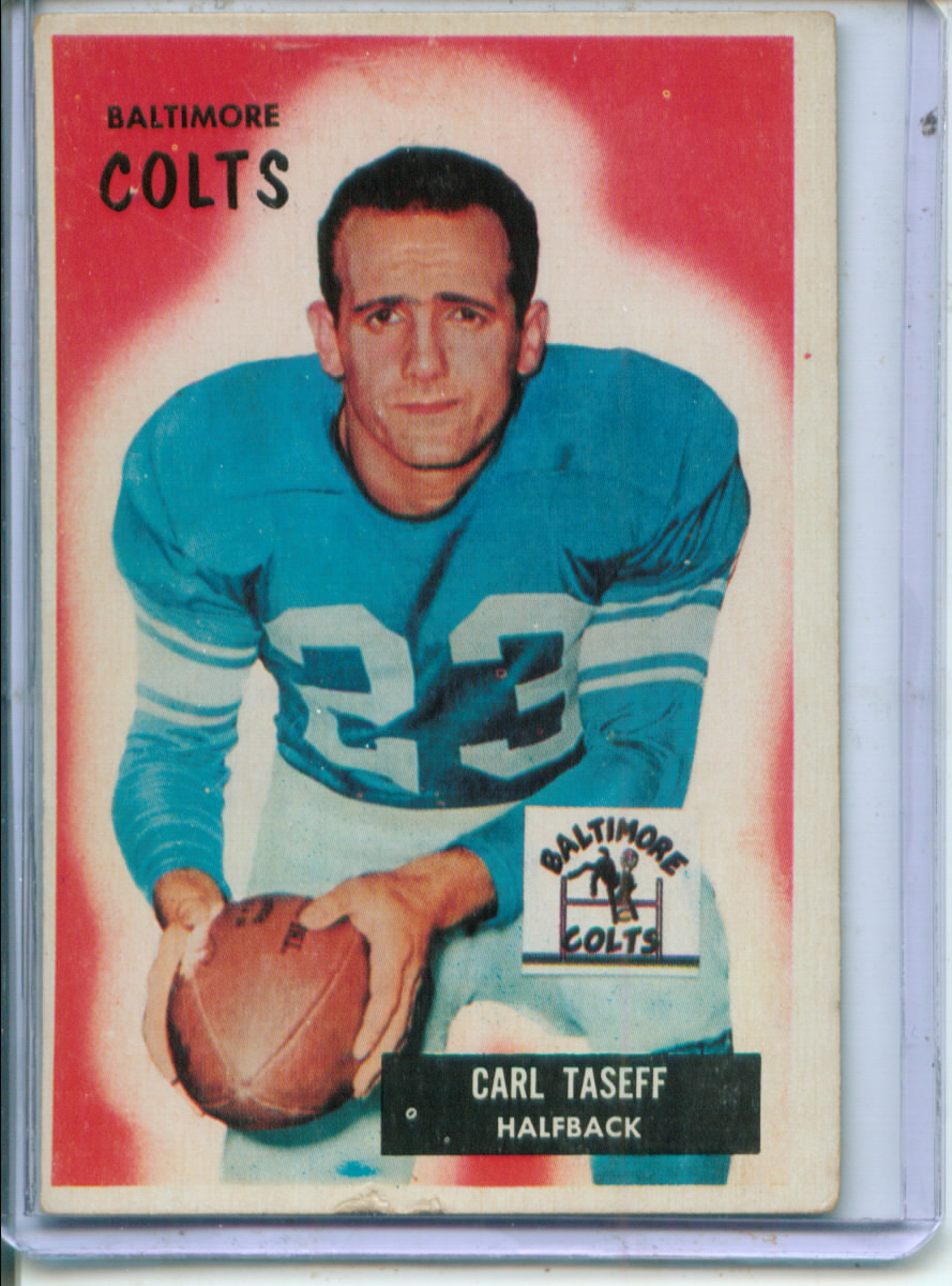 1955 Bowman #103 Carl Taseff RC