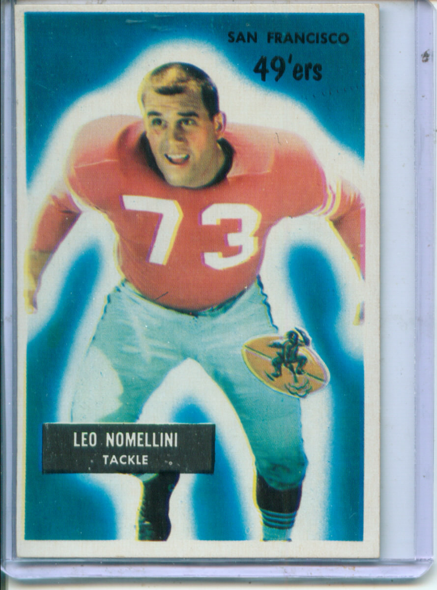 1955 Bowman #104 Leo Nomellini