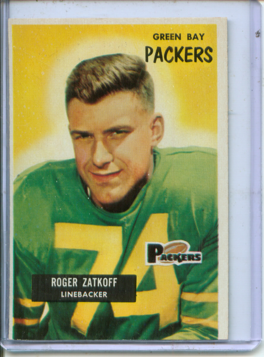 1955 Bowman #111 Roger Zatkoff RC