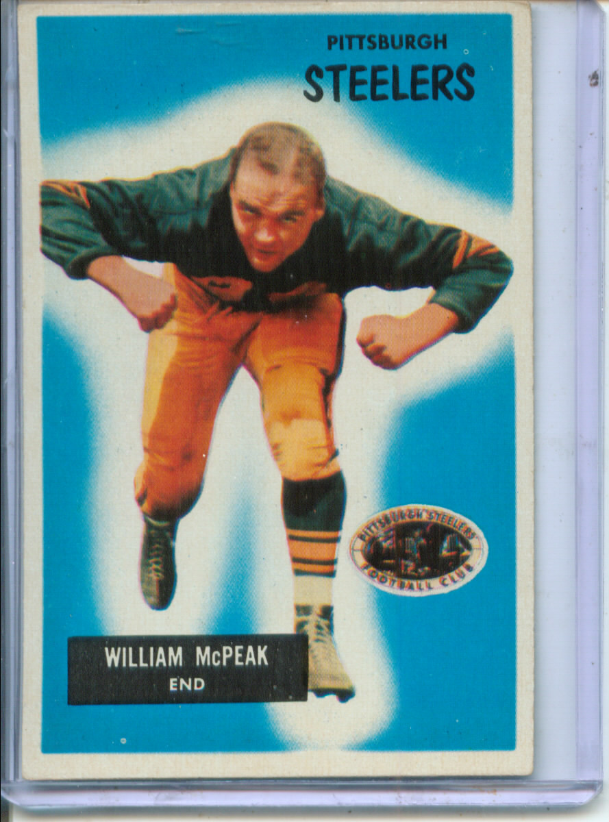 1955 Bowman #116 Bill McPeak RC