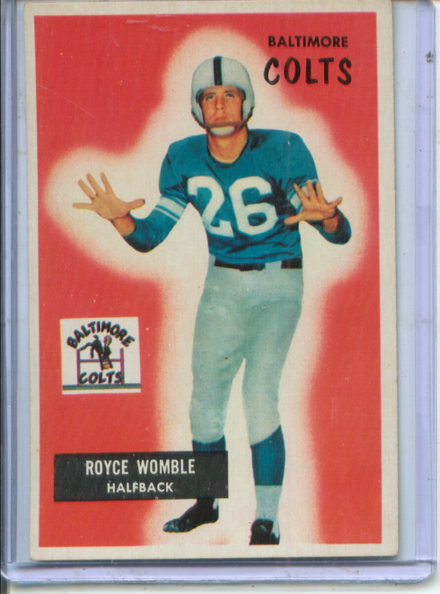 1955 Bowman #118 Royce Womble RC