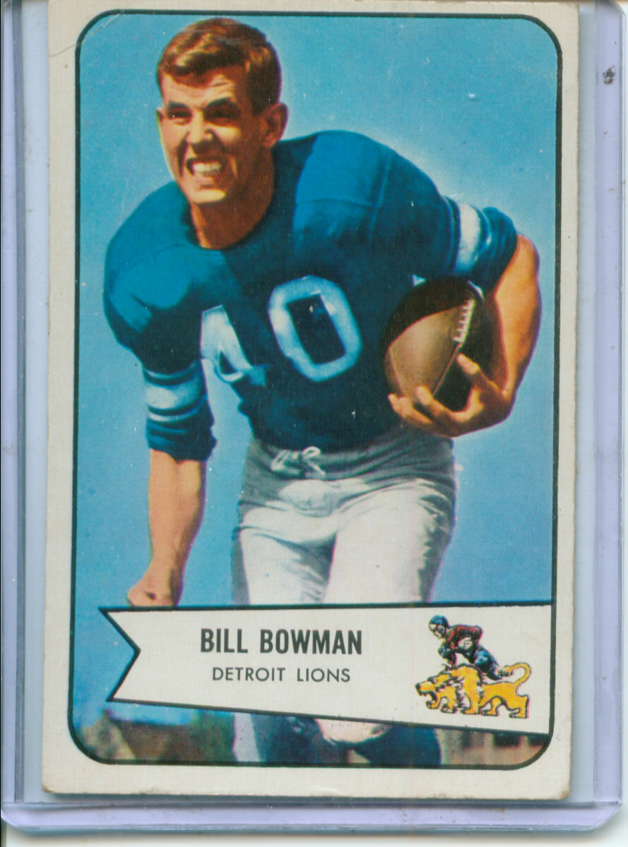 1954 Bowman #17 Bill Bowman RC