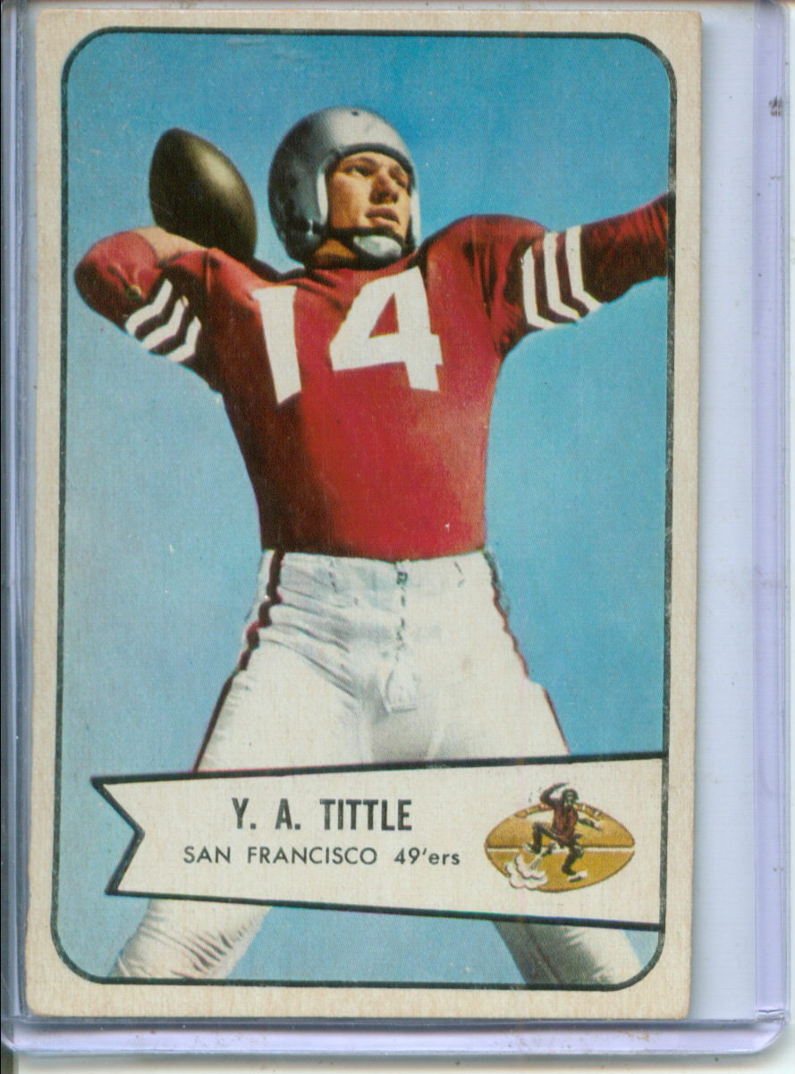 1954 Bowman #42 Y.A.Tittle