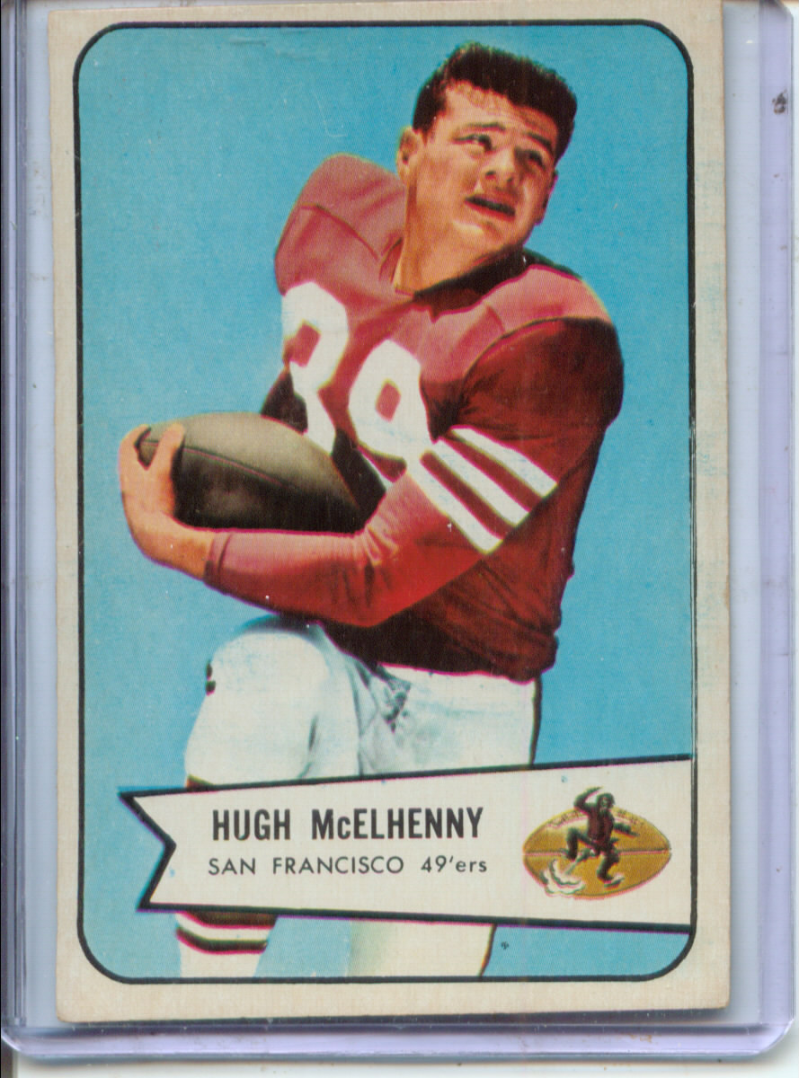 1954 Bowman #54 Hugh McElhenny