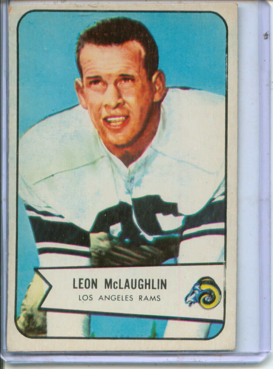 1954 Bowman #56 Leon McLaughlin RC