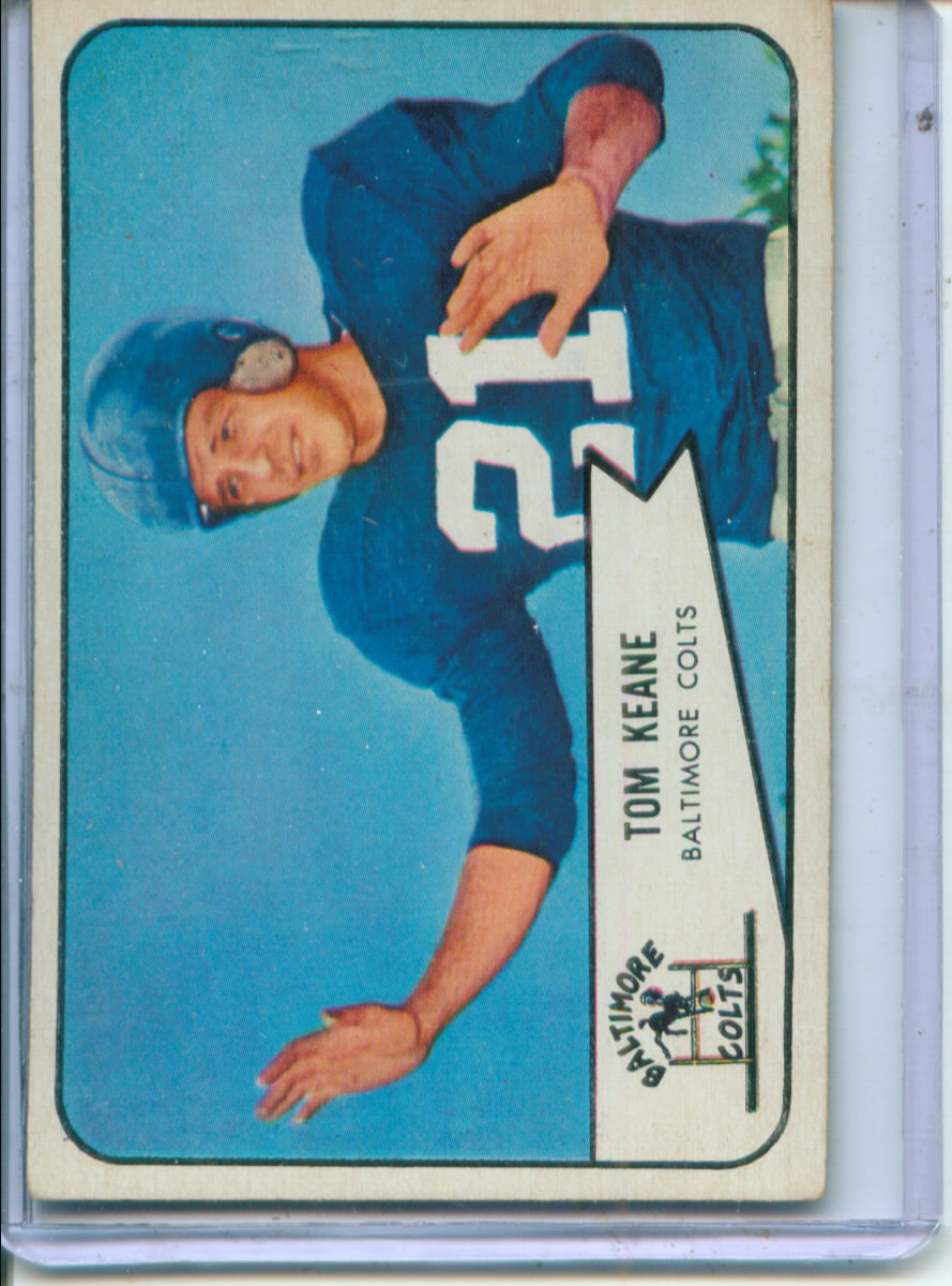 1954 Bowman #72 Tom Keane SP RC