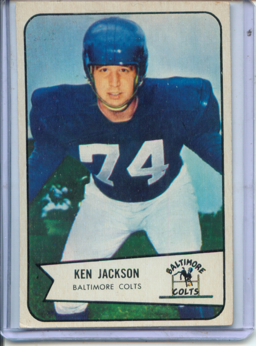 1954 Bowman #82 Ken Jackson SP RC