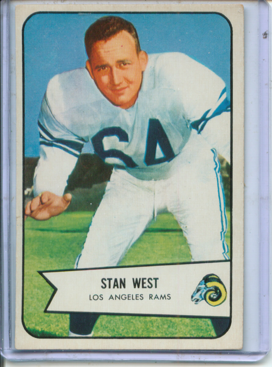 1954 Bowman #103 Stan West RC