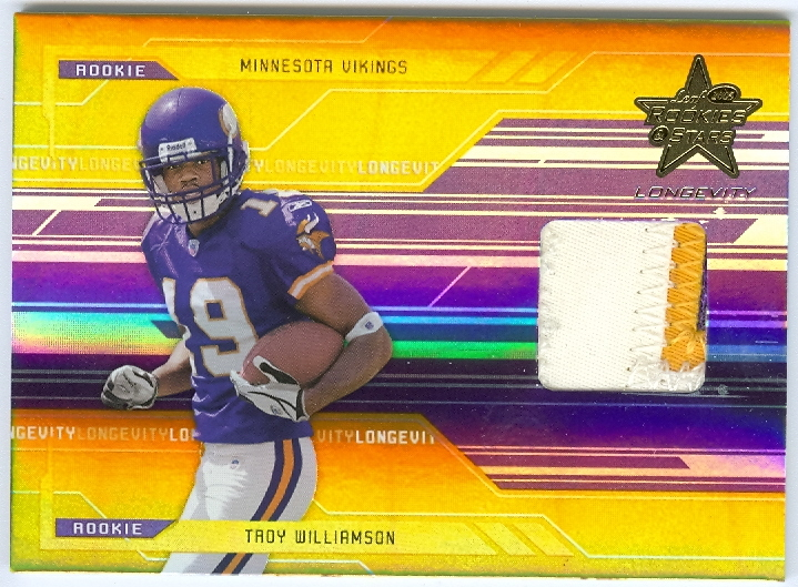 2005 Leaf Rookies and Stars Longevity Gold #277 Troy Williamson JSY