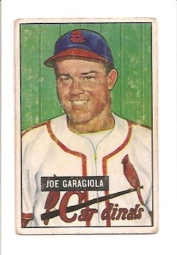 1951 Bowman #122 Joe Garagiola RC