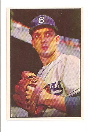 1953 Bowman Color #12 Carl Erskine