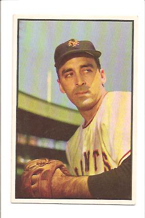 1953 Bowman Color #96 Sal Maglie