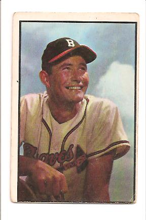 1953 Bowman Color #151 Joe Adcock