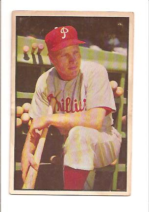 1953 Bowman Color #10 Richie Ashburn EX Actual scan front image