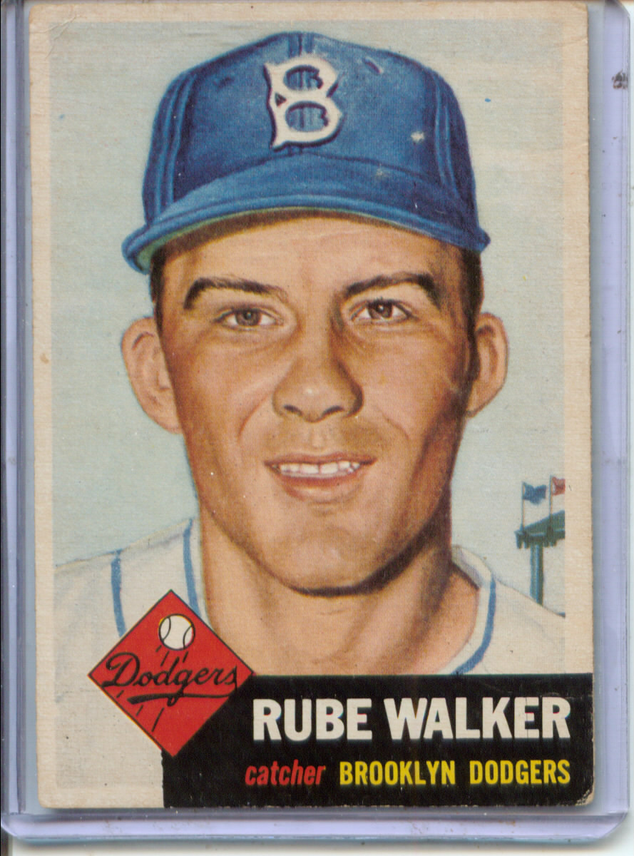 1953 Topps #134 Rube Walker