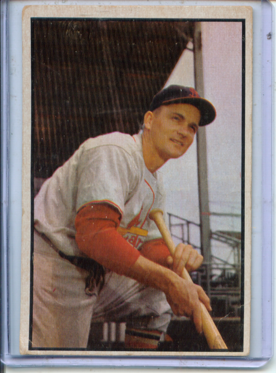1953 Bowman Color #142 Larry Miggins RC