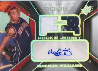 2006-07 SPx #141 Marcus Williams JSY AU RC
