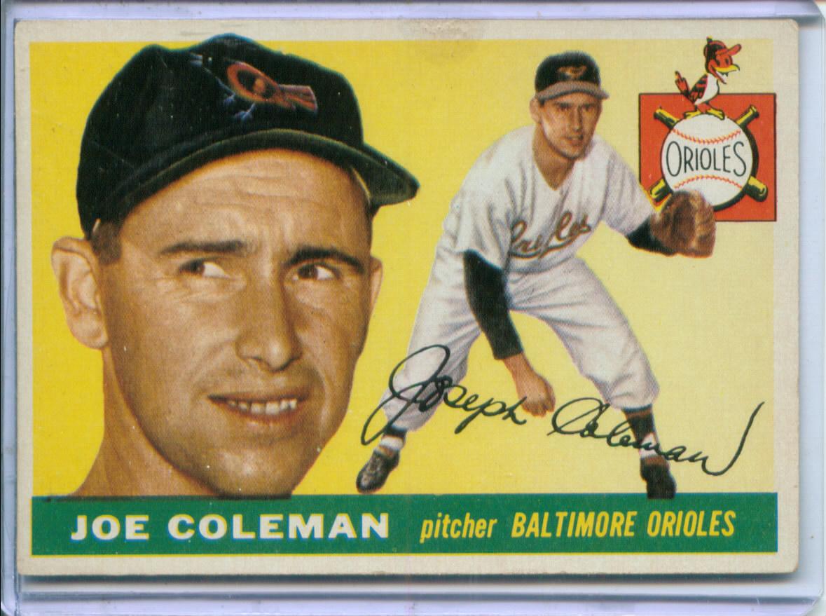1955 Topps #162 Joe Coleman