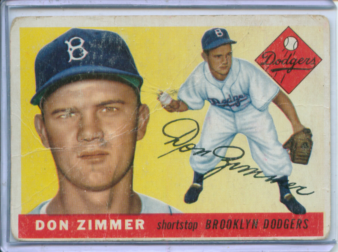 1955 Topps #92 Don Zimmer RC