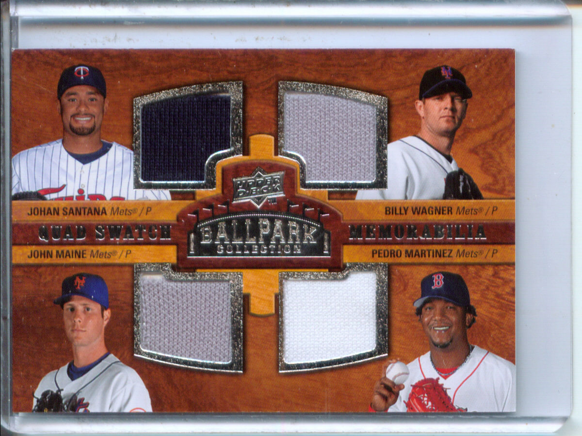 2008 Upper Deck Ballpark Collection #210 Johan Santana/Billy Wagner/John Maine/Pedro Martinez