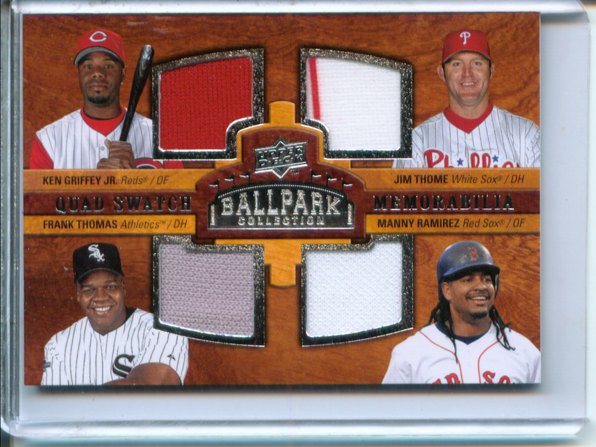 2008 Upper Deck Ballpark Collection #218 Ken Griffey Jr./Jim Thome/Frank Thomas/Manny Ramirez