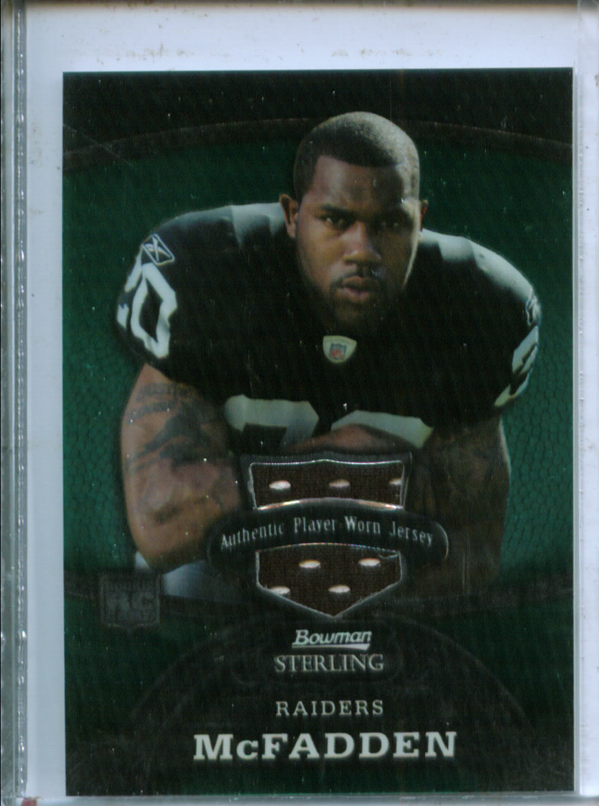 2008 Bowman Sterling Jerseys Green #151 Darren McFadden